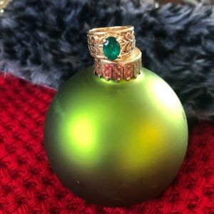 Gold Adoree Ring with Lab-Created Emerald
